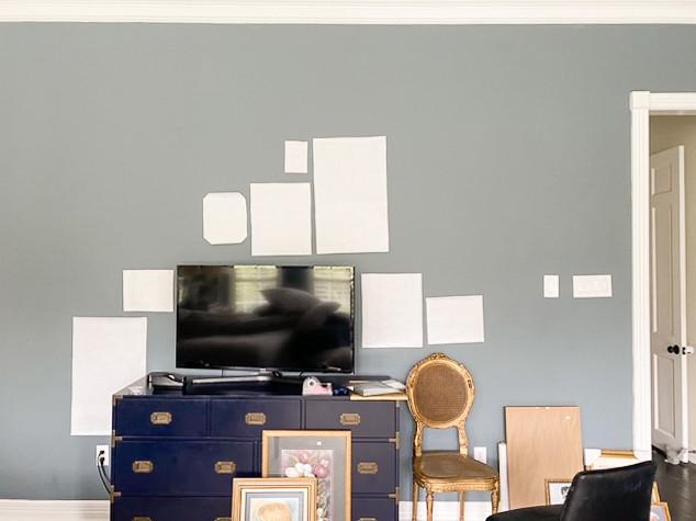 gallery wall DIY