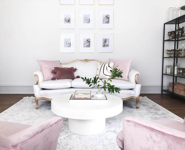 grandmillenial girly office space design