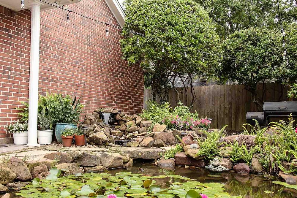 lush backyard pond inspiration