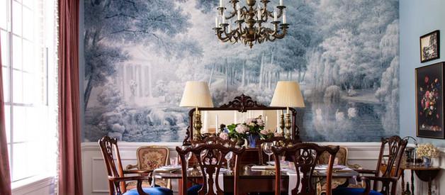 One Room Challenge- Week 8 FINAL REVEAL!! Grandmillenial blue and pink dining room