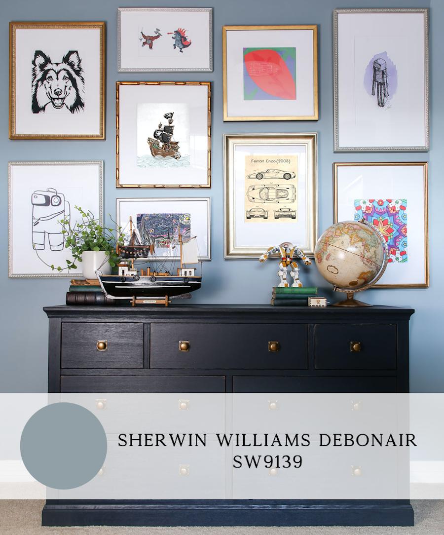 the best blue paint colors for interiors, sherwin williams debonair
