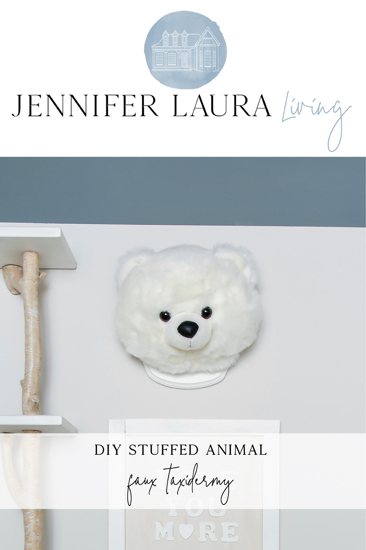 DIY stuffed animal faux taxidermy