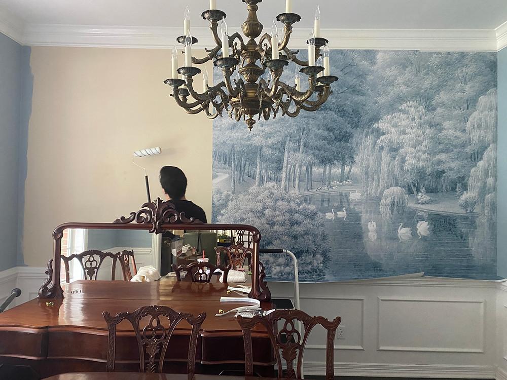 papiers de paris blue wallpaper