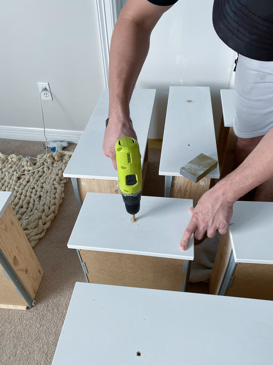 DIY Ikea Hemnes dresser hack