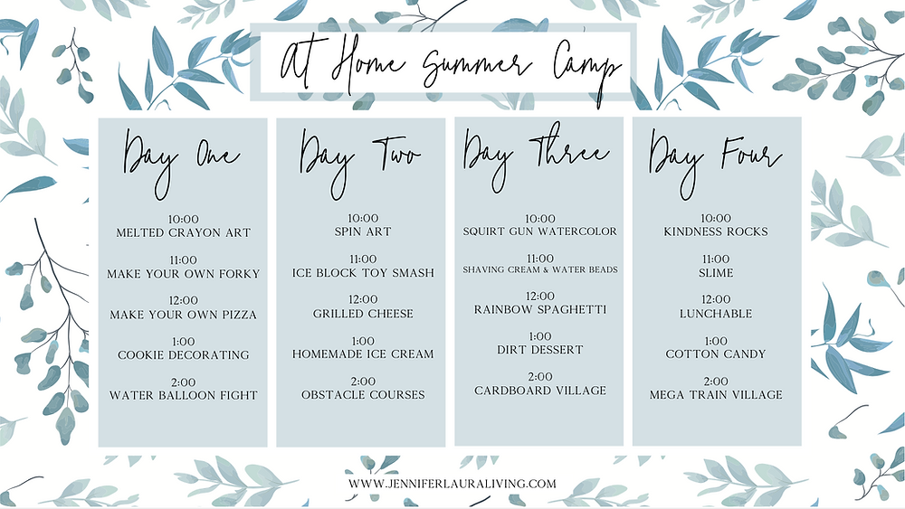 at home summer camp printable schedule