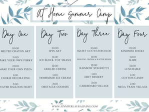 At Home Summer Camp- Fun Ideas to Keep the Kids Busy This Summer (Free Printable)
