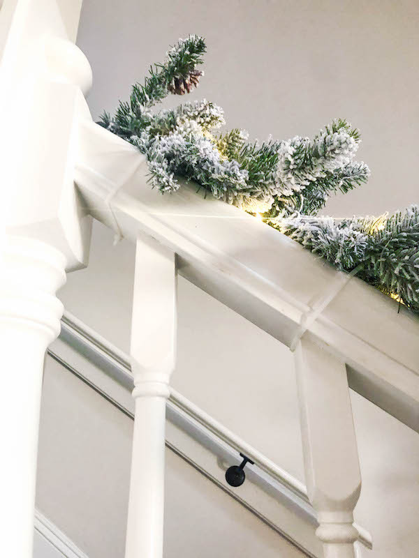 how to add staircase garland for christmas