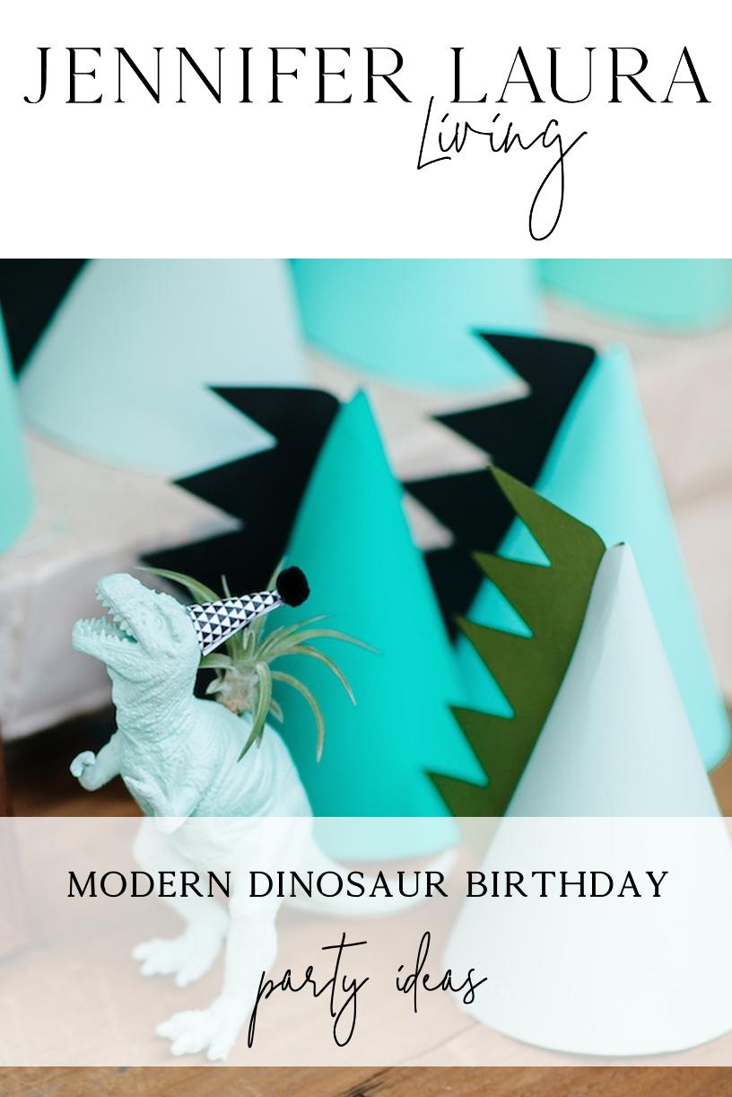 modern dinosaur birthday party ideas