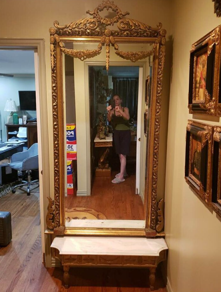 how to find antiques on facebook marketplace, french antique mirror