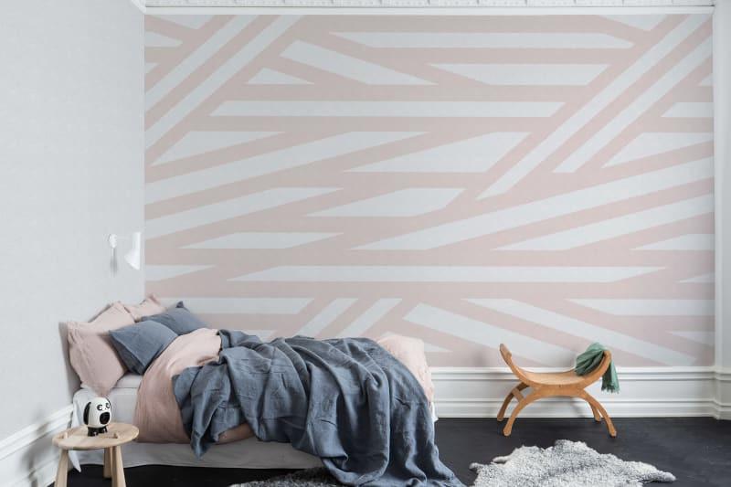 rebel walls sailor's sea pink mural