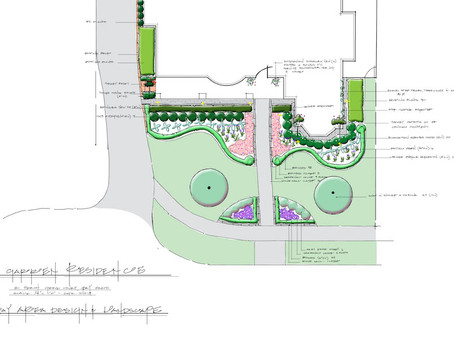 Front Yard Landscaping - the plan and working with a landscape architect