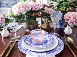 Setting the dining table with Birch Lane