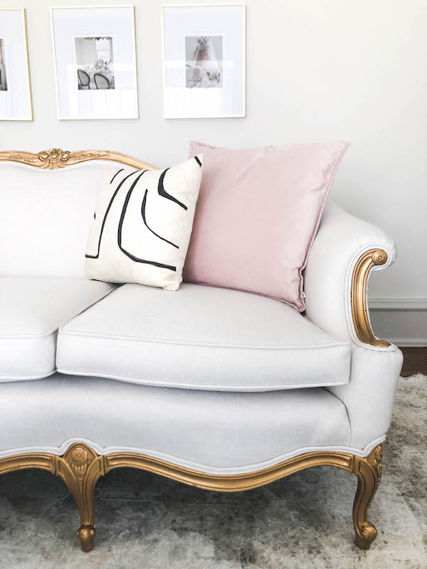 antique couch makeover grandmillenial girly office space design