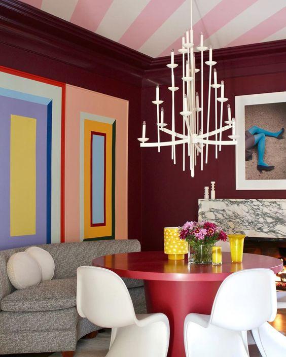 striped ceiling interior design