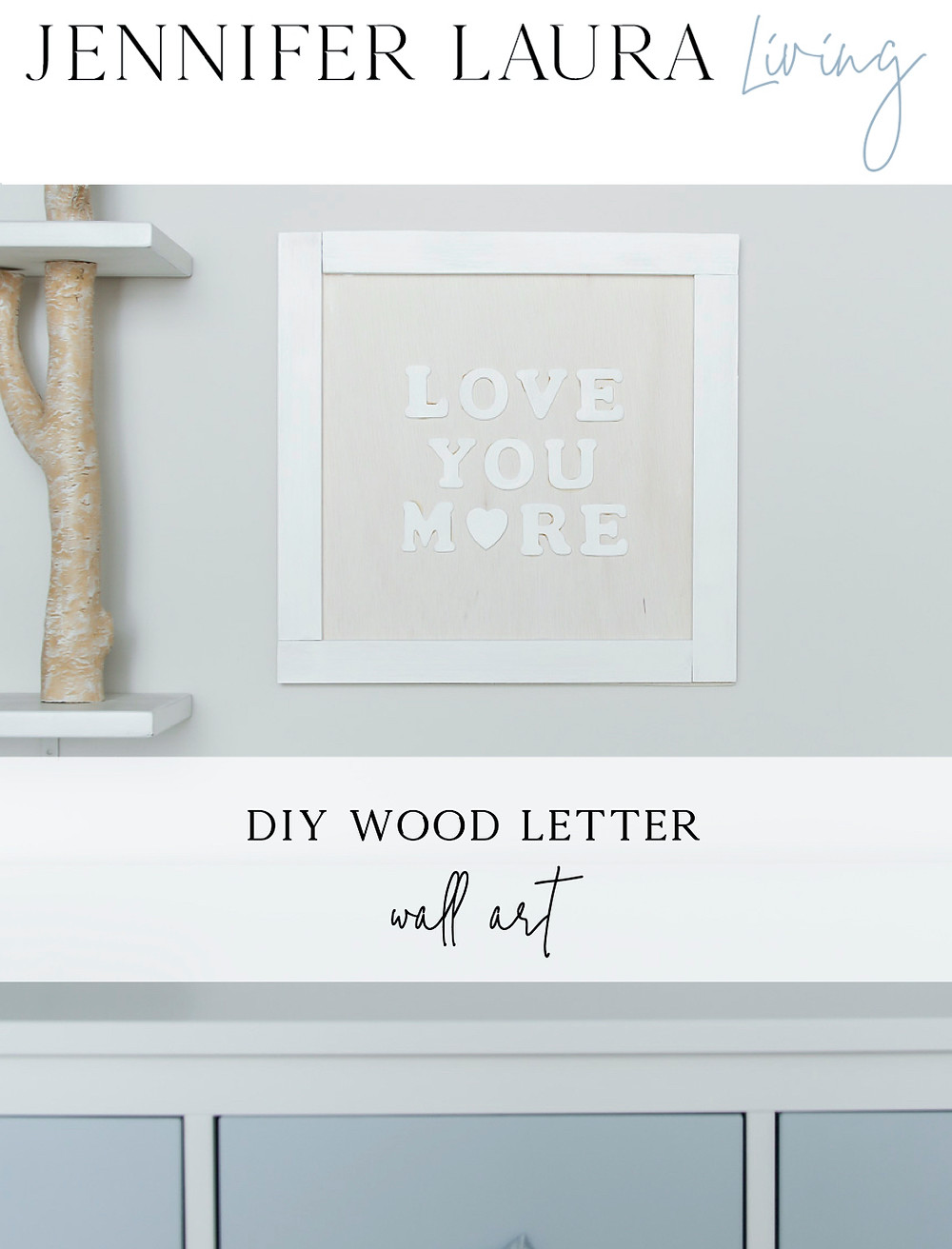DIY wood letter wall art