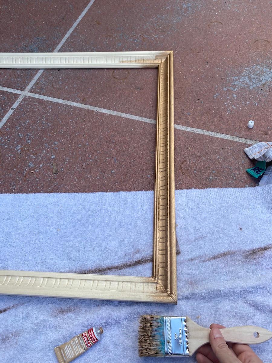 rub n' buff antique gold on wood