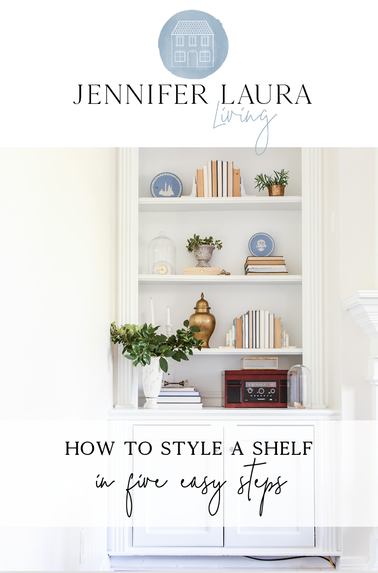 how to style a shelf in 5 easy steps