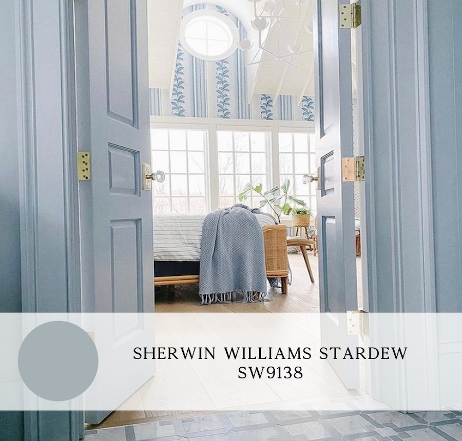 the best blue paint colors for interiors, sherwin williams stardew