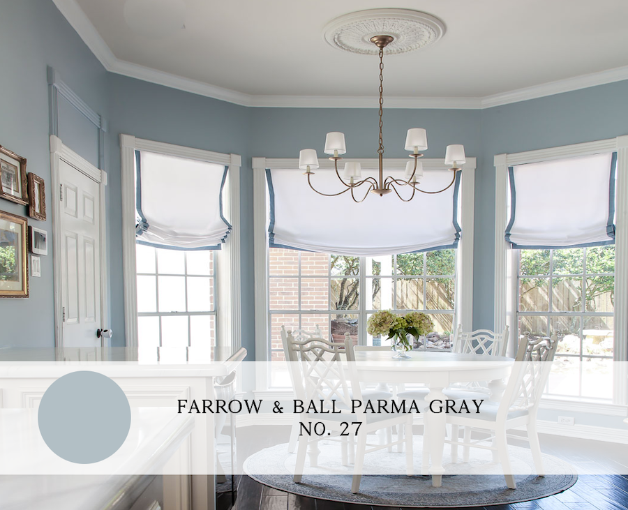 the best blue paint colors for interiors, farrow and ball parma gray