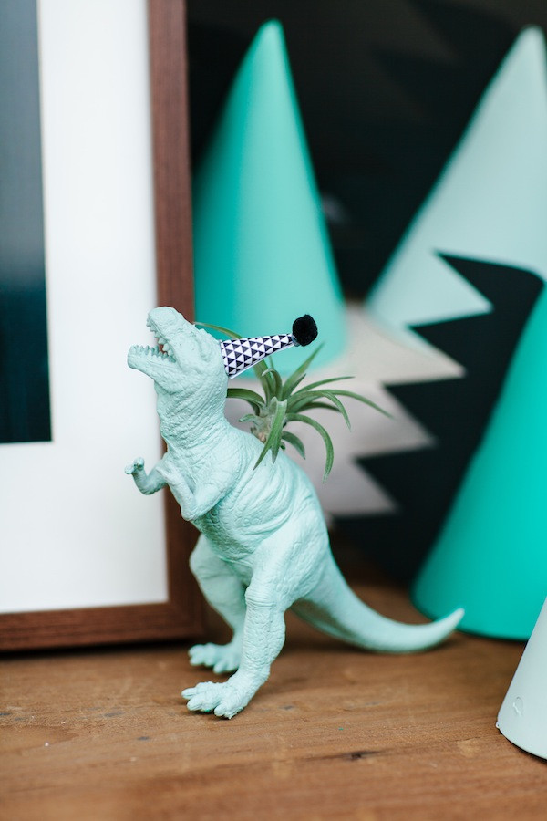 Modern Dinosaur Kid Birthday Party Ideas