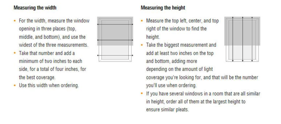 how to measure for roman shades