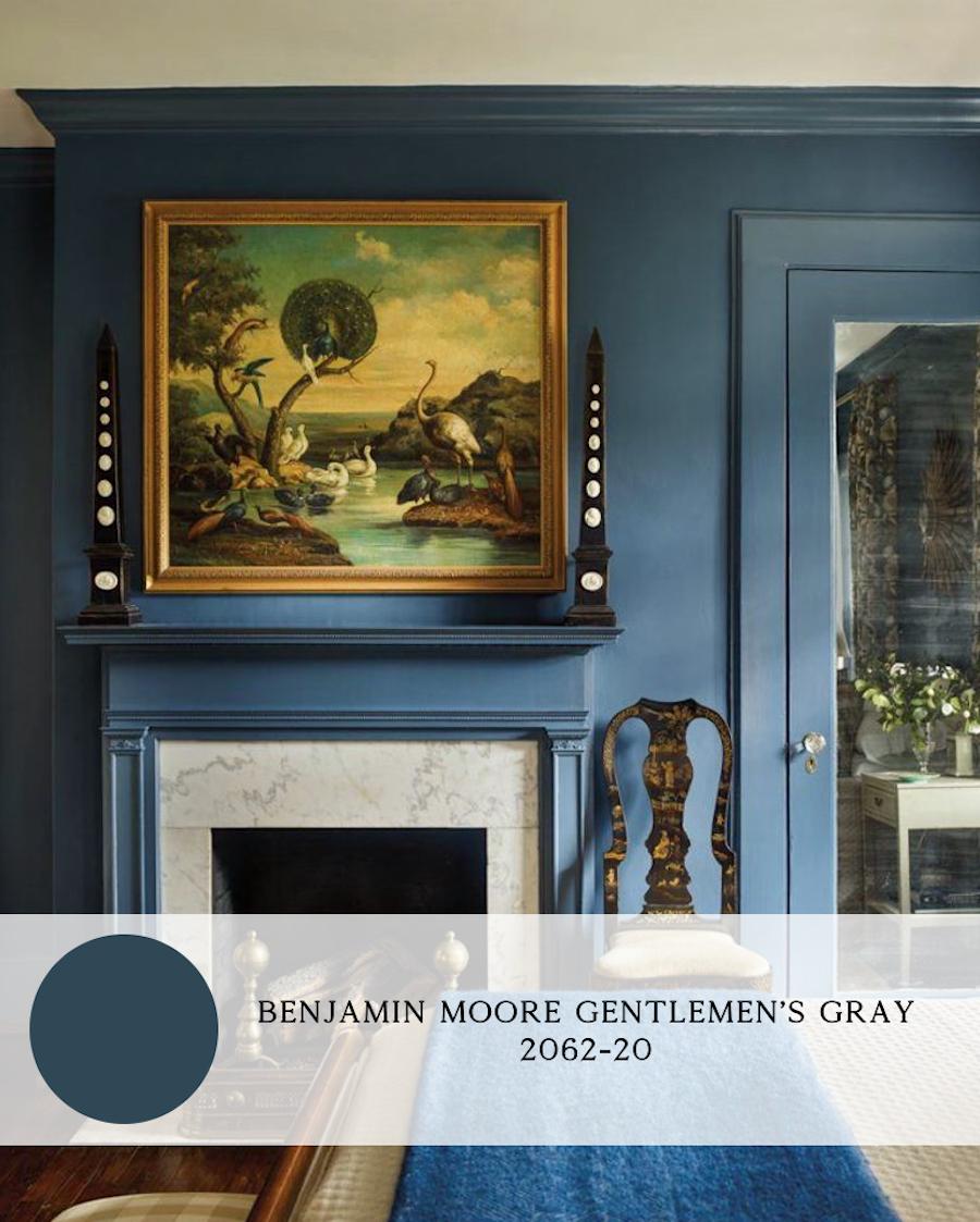 the best blue paint colors for interiors, benjamin moore gentlemen's gray
