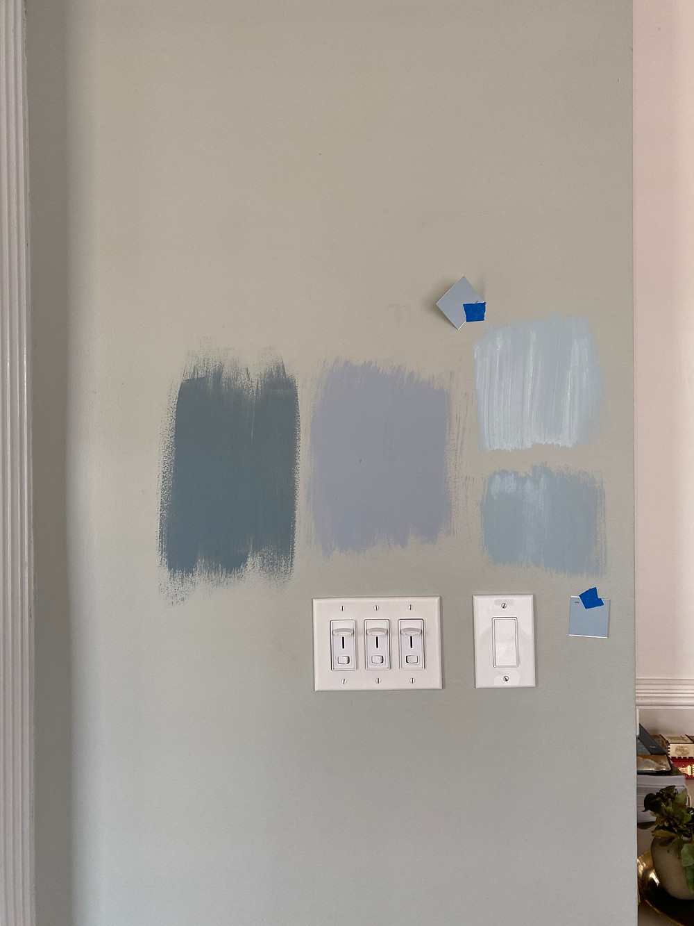 dusty blue paint swatches