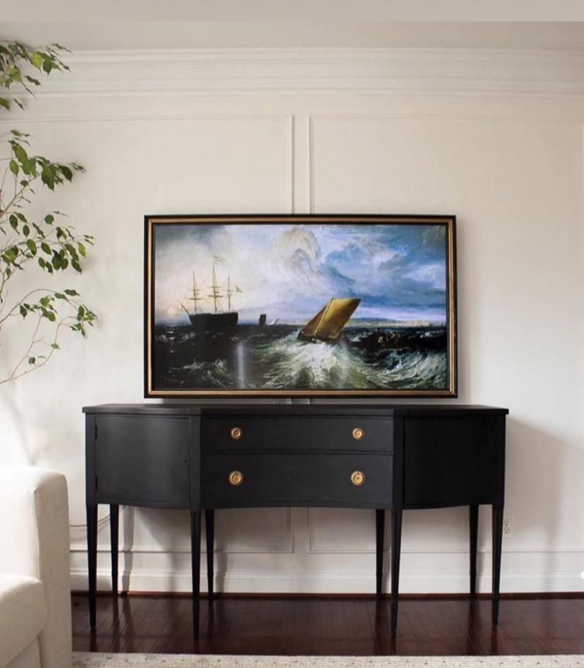 cass makes home DIY frame TV