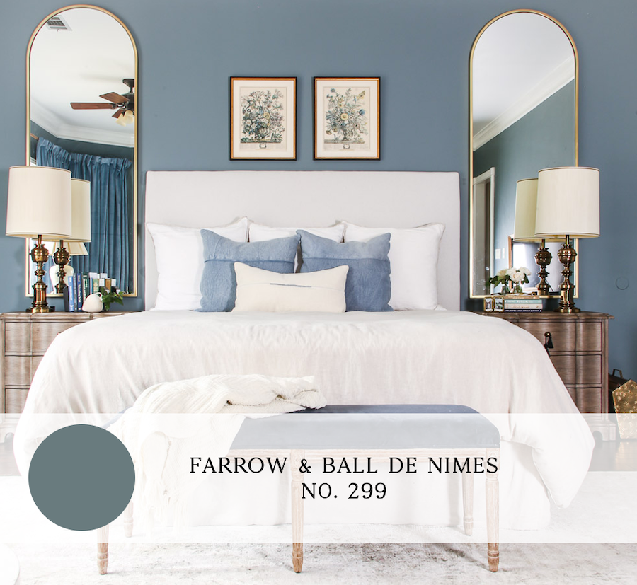 the best blue paint colors for interiors, farrow and ball de nimes