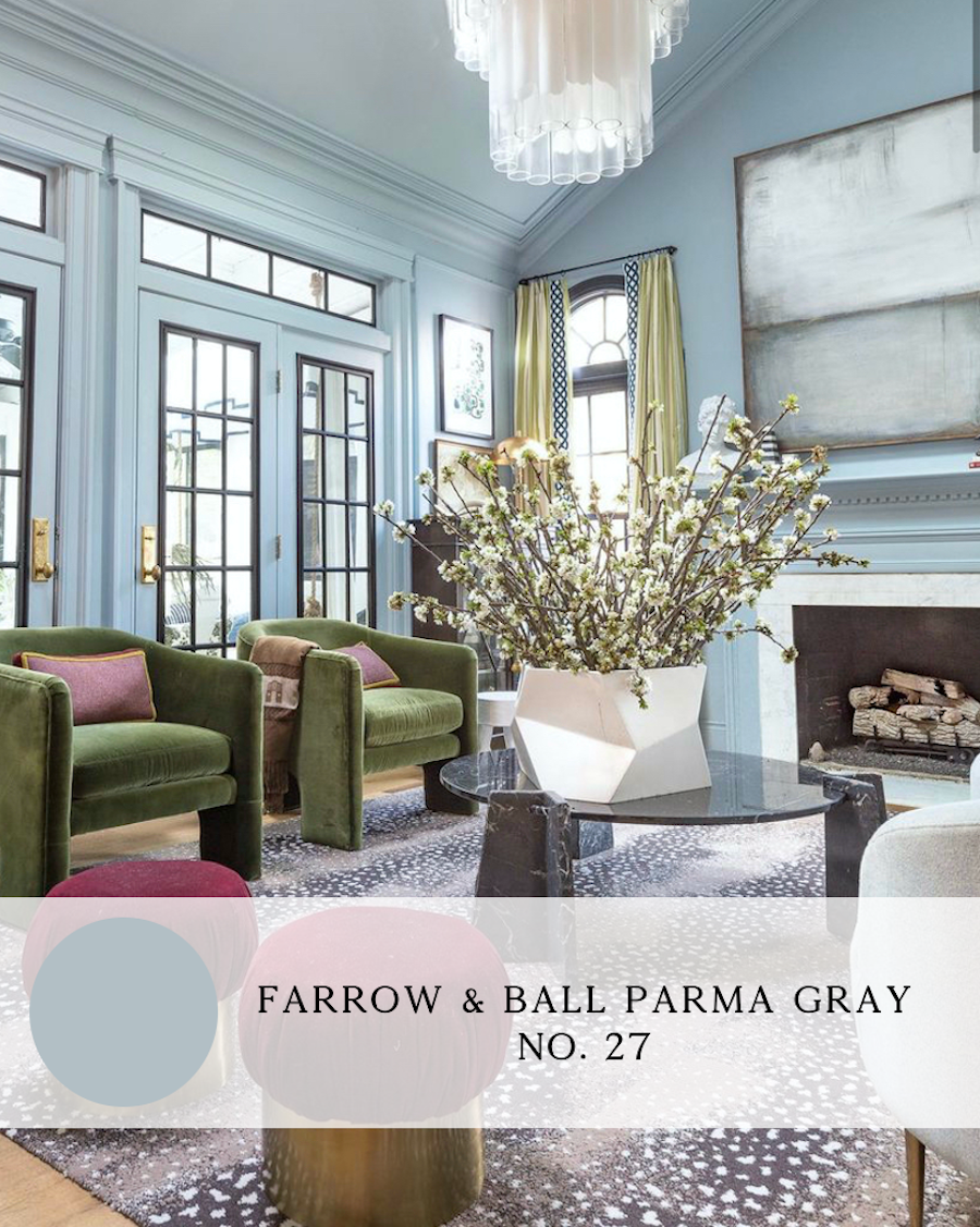the best blue paint colors for interiors, farrow and ball parma gray, jewel marlowe