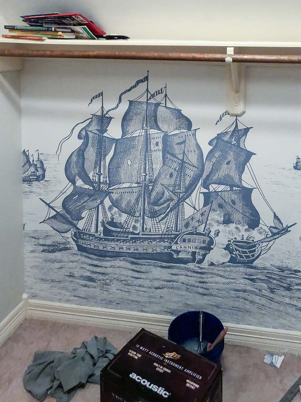 rebel walls high seas wallpaper