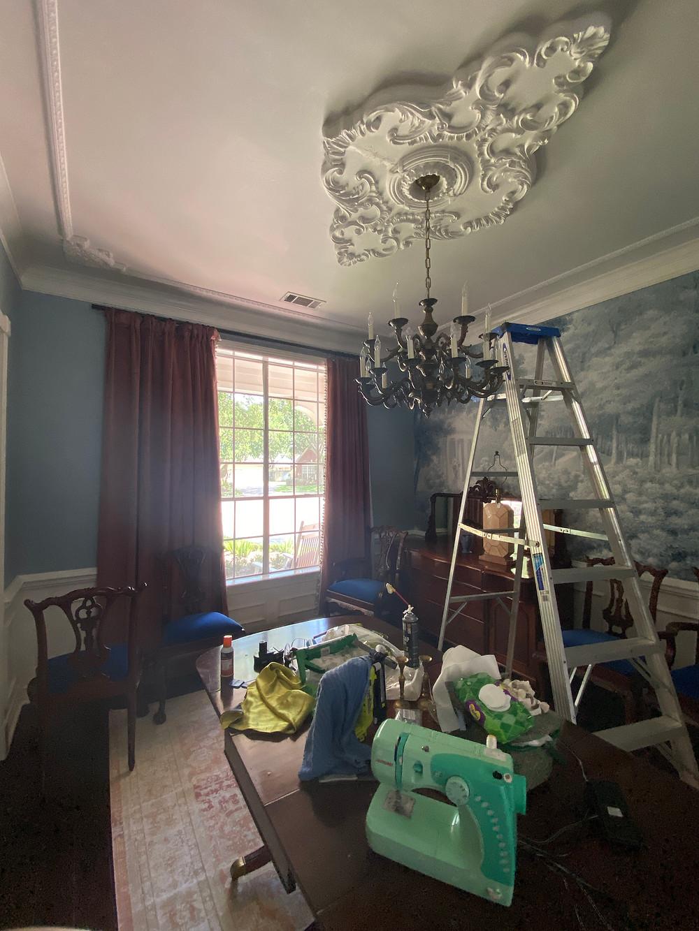 ekena millwork piedmont ceiling medallion