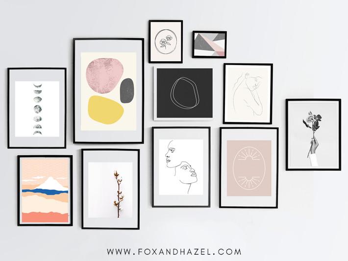 Fox and Hazel minimalist art printables free interior design