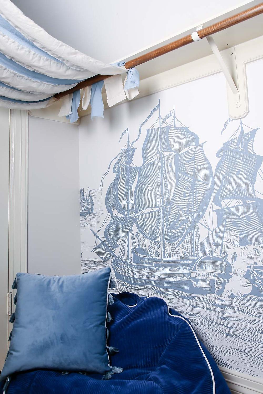 rebel walls high seas, kids reading nook closet