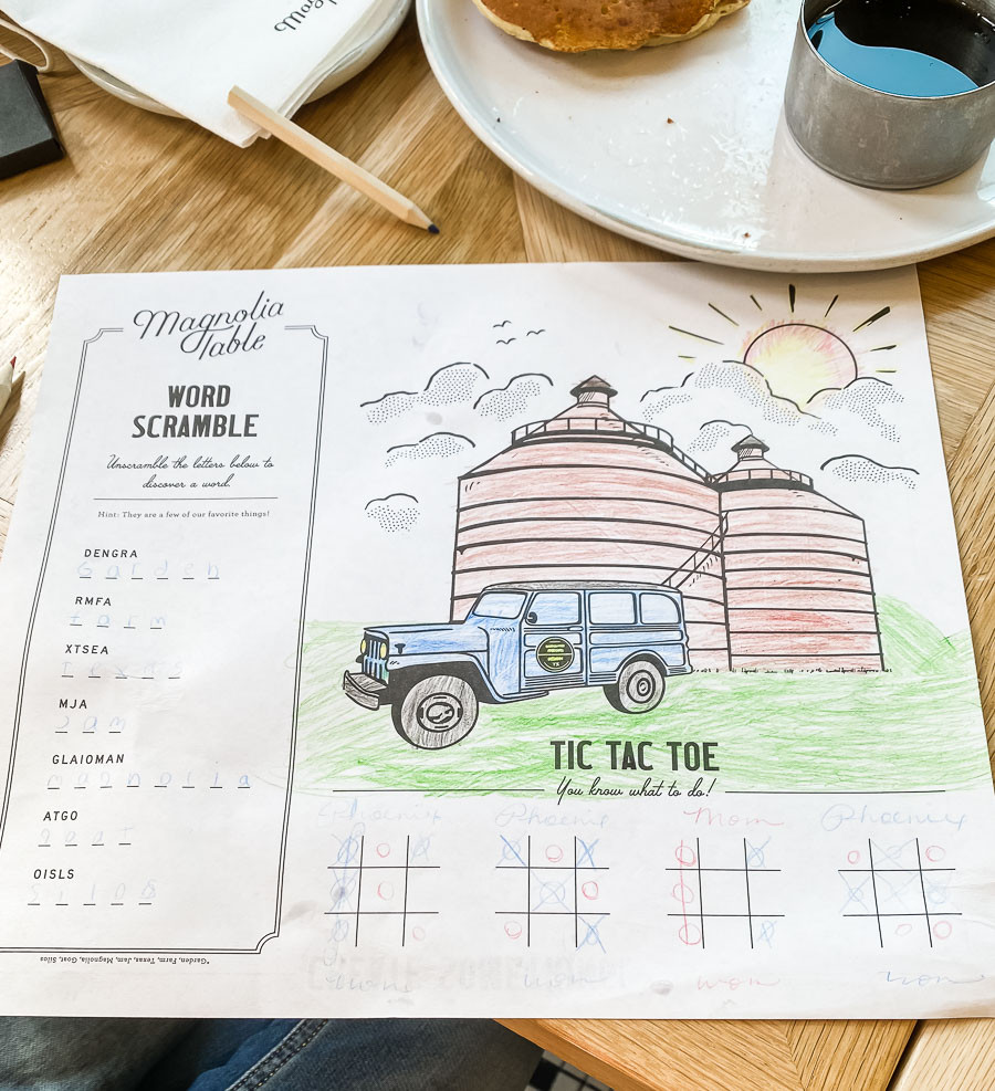 Magnolia Table, kids coloring page, Magnolia Market and Silos trip planning information, how to plan a trip to magnolia