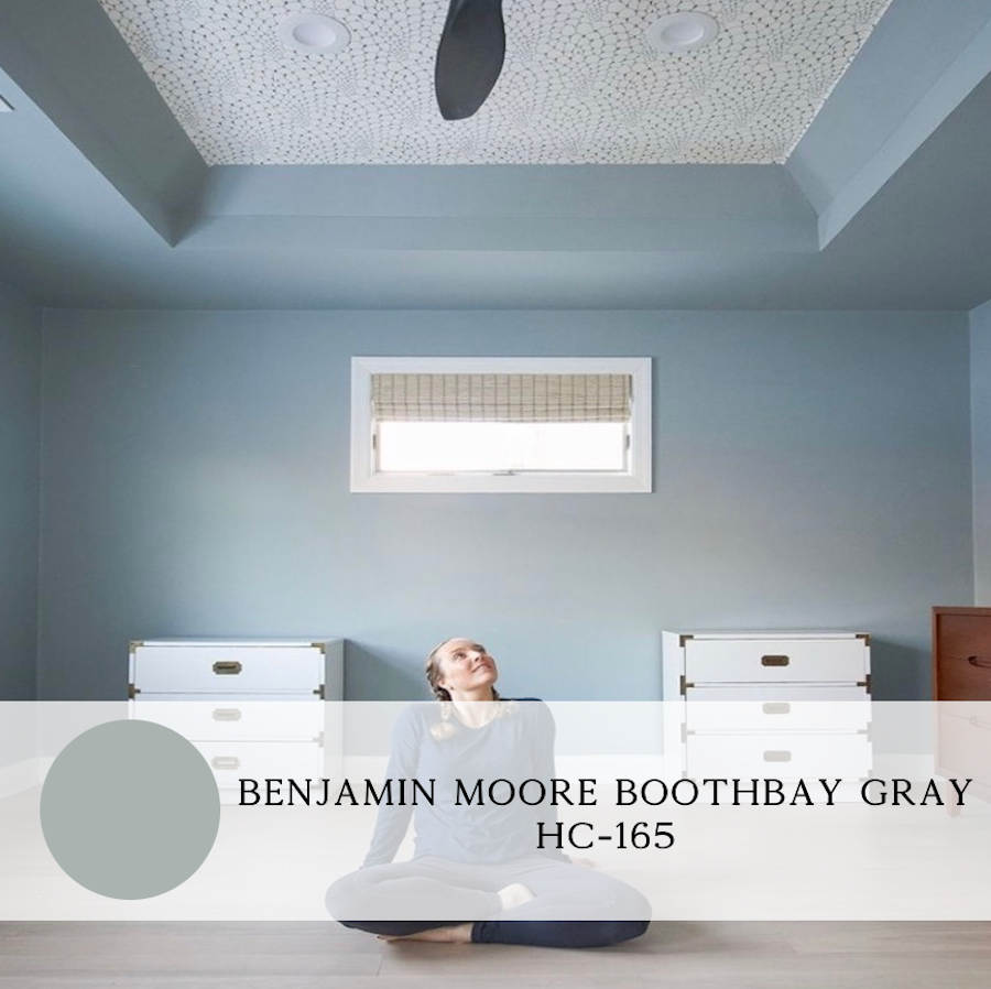 the best blue paint colors for interiors, benjamin moore, boothbay gray