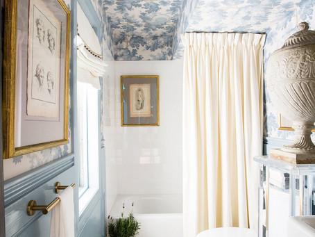 Fun Friday- a grandmillenial bathroom- blue vs. green