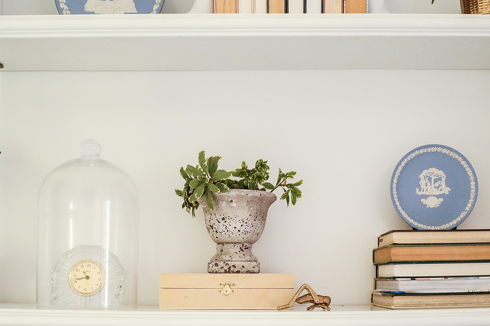 styled french traditional shelf, grandmillenial