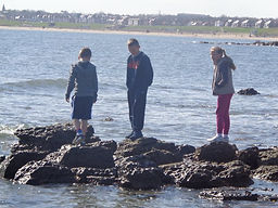 Bostey, Walker, Young people, summer holidays, holy island, beach, seal watching