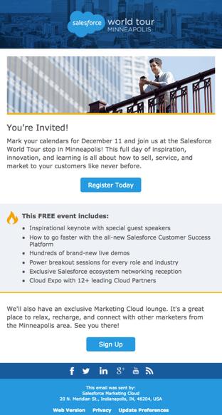 Salesforce World Tour Invite