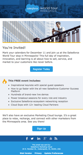 Salesforce World Tour Invite