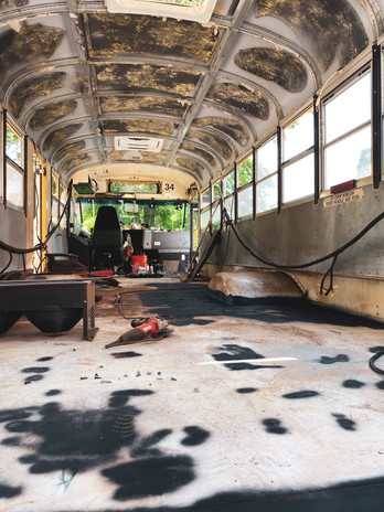 Stripped out interior