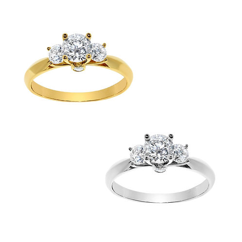 14k Yellow or White Gold 3/4ct TGW Round-cut Diamonette Engagement Ring