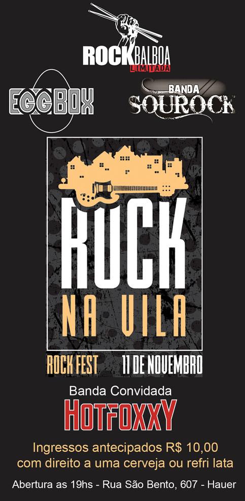 ROCKBALBOA Divide o palco com mais 3 bandas (ROCK NA VILA)