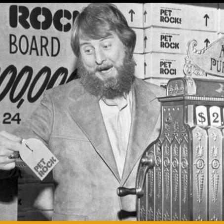 Un copywriter devenu millionnaire en vendant des pierres de compagnie (Pet Rock).