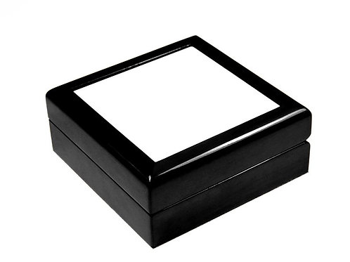 "Wooden Keepsake Box Black 6""X6"""