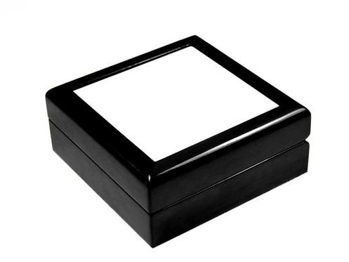 Wooden Keepsake Box Black 4 X4