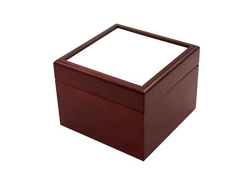 """Deep Wooden Keepsake Box Brown 4""""X4"""""""