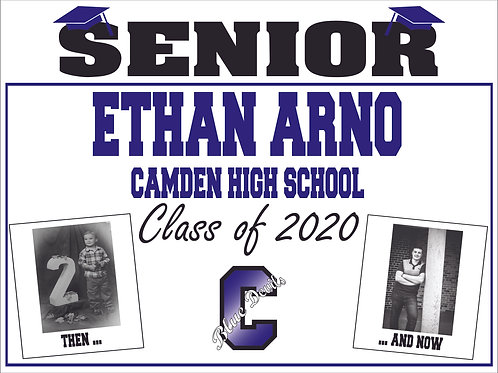 Personalized Senior Yard Sign with stake