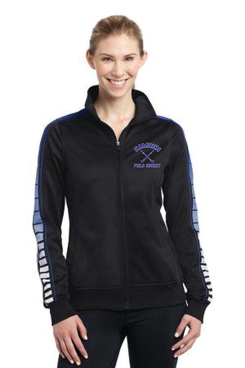 Sport-Tek® Ladies Dot Sublimation Tricot Track Jacket